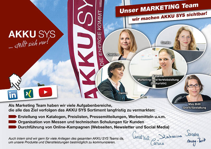 Unser Team Marketing
