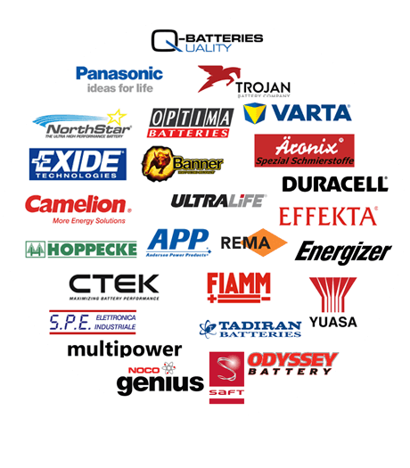 Marken wie Exide, Q-Batteries, Varta und Co.