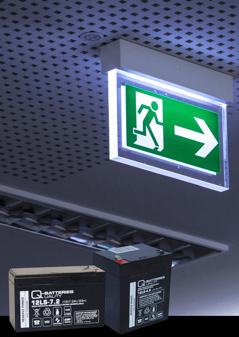 Notbeleuchtung für Sicherheitstechnik