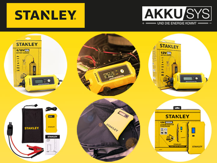 Stanley chargers and boosters - new in our range